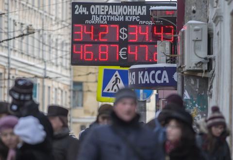 Курс рубля по отношению к доллару и евро