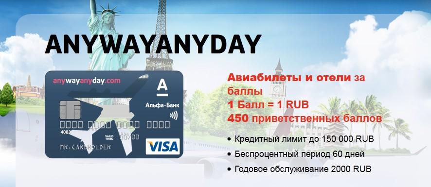 кобрендинговая кредитная карта от Альфа-банка