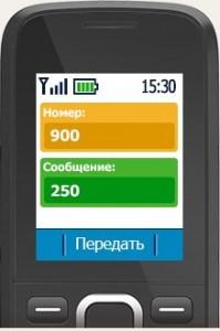 меню мобильного телефона