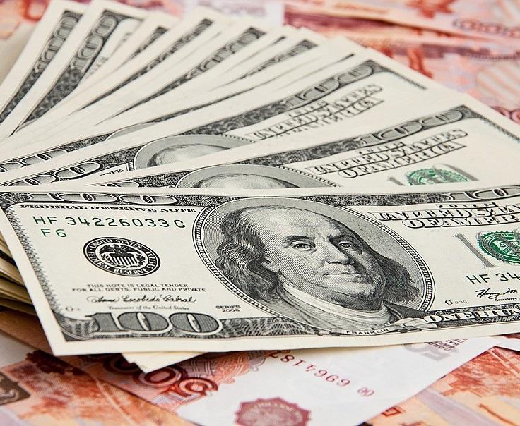 Рубль по отношению к доллару