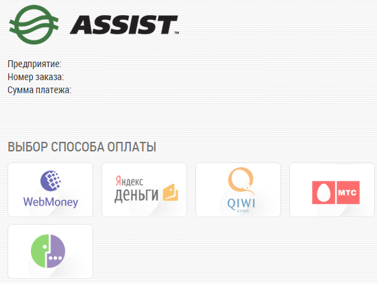 Assist оплата услуги
