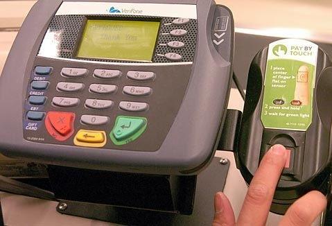 Оплата по отпечаткам пальцев