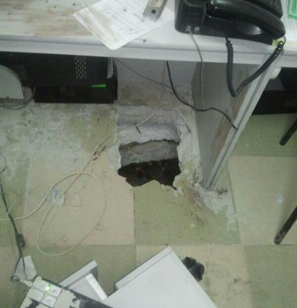проломил пол офиса сбербанка