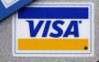 Regular, platinum and gold Visa cards are displayed in New York