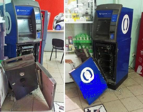 вскрытый преступниками банкомат