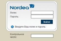 меню интернет-банка Nordea online