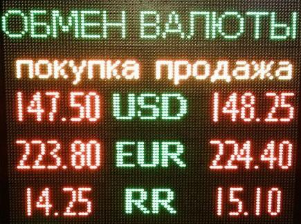 Трехзначные курсы валют