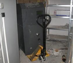 банкомат похитили с помощью тележки
