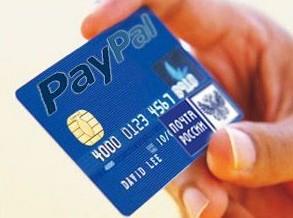 платежная карта PayPal