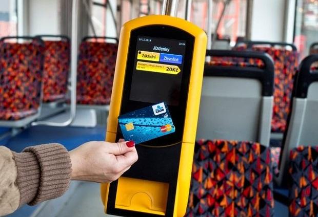 Оплата картой в автобусе